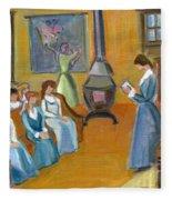 Susan B. Anthony Teaching In Canajoharie Fleece Blanket