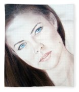 Actress And Model Susan Ward Blue Eyed Beauty With A Mole Fleece Blanket