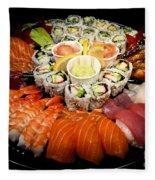 Sushi Party Tray Fleece Blanket