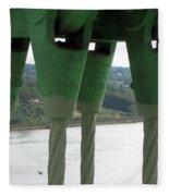 Suspension Cables Fleece Blanket