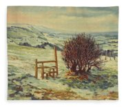 Sussex Stile, Winter, 1996 Fleece Blanket