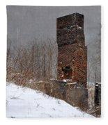 Sutherland Chimney In Winter Number One Fleece Blanket