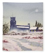 Suzan's Church Painting  Fleece Blanket