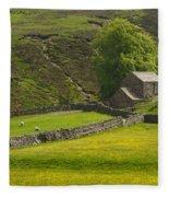 Swaledale Landscape Fleece Blanket