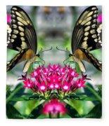 Swallowtail Butterfly Digital Art Fleece Blanket