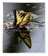 Swallowtail - Butterfly - Reflections Fleece Blanket