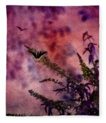 Swallowtail In The Butterfly Bush - Featured In The Wildlife And Comfortable Art And Newbies Groups Fleece Blanket