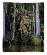 Swamp Beauty Fleece Blanket