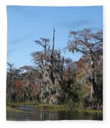 Swamp Serenity Fleece Blanket