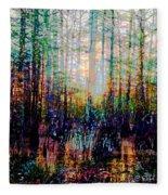 Swamp Colorfest Fleece Blanket