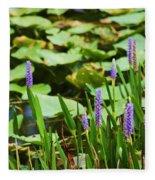 Swamp Flowers  Fleece Blanket