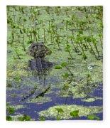 Swamp Gator Fleece Blanket