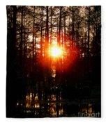 Swamp Light Fleece Blanket
