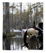 Swamp Pirate Fleece Blanket