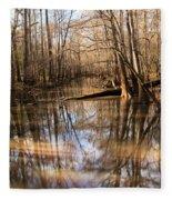 Swamp Reflections Fleece Blanket