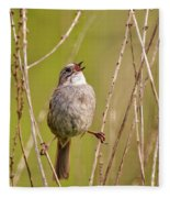 Swamp Sparrow Split Decision Fleece Blanket