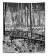 Swamp Trees Fleece Blanket