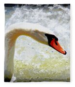 Swan - Beautiful - Elegant Fleece Blanket