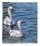 Swan Day Fleece Blanket