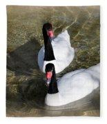 Swan Duo Fleece Blanket