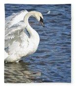 Swan Feather Fleece Blanket