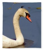 Swan Glide Fleece Blanket
