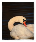 Swan Grooming Fleece Blanket