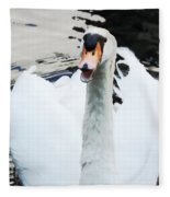 Swan Honk Honk Fleece Blanket