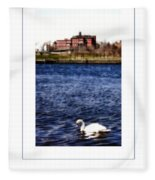 Swan Lake Poster Fleece Blanket