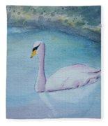 Swan Study Fleece Blanket