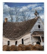 Sway Back School House Fleece Blanket