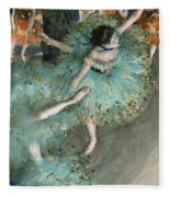 Swaying Dancer .dancer In Green Fleece Blanket