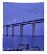 Sweden, The Bridge To The Island Fleece Blanket