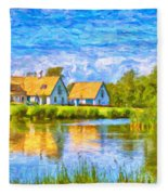 Swedish Lakehouse Fleece Blanket