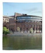 Swedish Parliament 02 Fleece Blanket