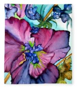 Sweet And Wild In Turquoise And Pink Fleece Blanket