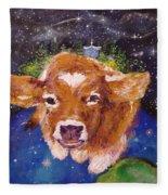 Sweet Buttercup Fleece Blanket