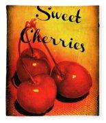 Sweet Cherries - Kitchen Art Fleece Blanket