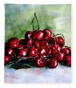 Sweet Cherries Fleece Blanket