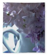 Sweet Cream Lilac Fleece Blanket
