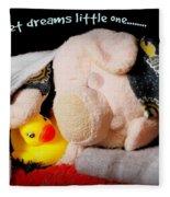 Sweet Dreams Little One Fleece Blanket