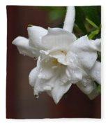 Sweet Gardenia Rain Fleece Blanket