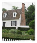 Sweet Home In Colonial Williamsburg Fleece Blanket