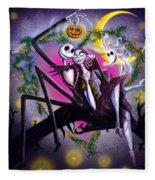 Sweet Loving Dreams In Halloween Night Fleece Blanket