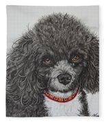Sweet Miss Molly The Poodle Fleece Blanket