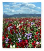 Sweet Peas Forever Fleece Blanket