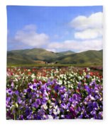 Sweet Peas Galore Fleece Blanket