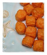 Sweet Potato Puffs Fleece Blanket