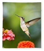 Sweet Promise Hummingbird Fleece Blanket