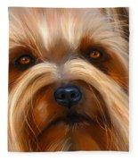 Sweet Silky Terrier Portrait Fleece Blanket